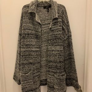 Gray thick cardigan